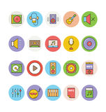 Muzyk Barwione Wektorowe ikony 1 Obraz Stock