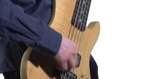 Muzyk bawić się basową gitarę zbiory