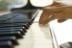 Muzyk bawić się pianino Zdjęcia Stock