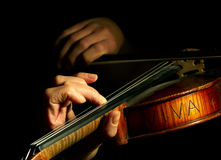 Muzyk bawić się skrzypce Obraz Royalty Free