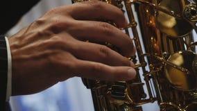 Muzyk bawi? si? saksofon zbiory wideo