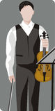 muzyk ilustracyjne serii Obraz Stock