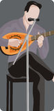 muzyk ilustracyjne serii Obrazy Stock