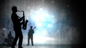 Muzyk Jazzowy sylwetki i błyskotliwości 4K pętla zdjęcie wideo
