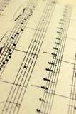 Muzyk notatki Fotografia Stock