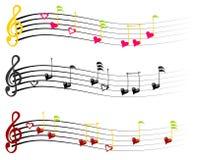 Muzyk notatki Zdjęcie Royalty Free