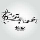 Muzyk notatki Zdjęcia Royalty Free