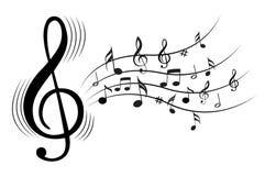 Muzyk notatki Obraz Royalty Free