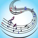 Muzyk notatki Obraz Stock