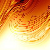 Muzyk notatki Fotografia Royalty Free