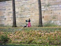 Muzyk odludny wzdłuż wontonu Obrazy Royalty Free