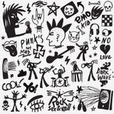 Muzyk rockowych doodles royalty ilustracja