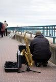 muzyk street zdjęcie royalty free