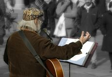 muzyk street Obrazy Royalty Free