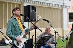 Muzyk sztuki gitara w Ulicznym muzycznym dniu Zdjęcia Stock
