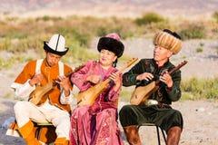 Muzyk sztuki tradycyjni instrumenty w Issyk Kula Obrazy Royalty Free