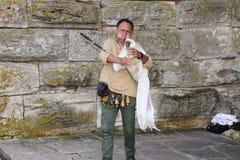 Muzyk w Nessebar Zdjęcia Royalty Free