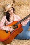 muzyka country kobieta Fotografia Royalty Free