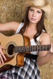 muzyka country kobieta Obraz Stock
