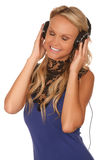 Muzyka czasu Partyjna dziewczyna Fotografia Stock