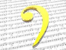 muzyka, że bass clef arkusza wydruku Fotografia Royalty Free