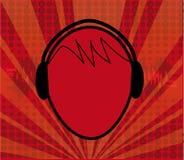muzyka głowy ilustracja wektor