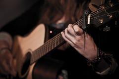 Muzyka gitarzysta Obrazy Royalty Free