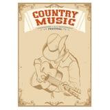 muzyka gra na gitarze Muzyka country festiwalu tło dla te ilustracja wektor