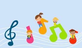 Muzyka i dzieci royalty ilustracja