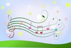 Muzyka i natura royalty ilustracja