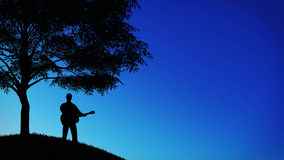 Muzyka i nocne niebo Obraz Stock