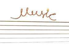 Muzyka inskrypcja sznurek. Obraz Stock