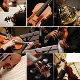 Muzyka klasyczna kolaż fotografia stock