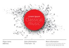 Muzyka klasyczna koncertowy plakatowy szablon Zdjęcia Royalty Free