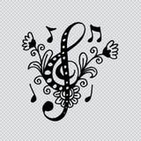 Muzyka kluczowy dekoracyjny styl ilustracji