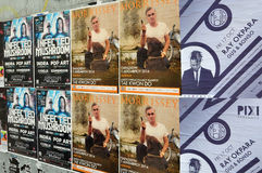 Muzyka koncertowi plakaty Fotografia Royalty Free