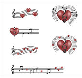 Muzyka mój serce Fotografia Royalty Free