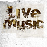 Muzyka na żywo grunge tło Fotografia Stock