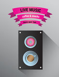 Muzyka na żywo reklama z mówcą Obraz Stock