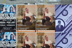 Muzyka na żywo koncertowi plakaty Zdjęcie Royalty Free