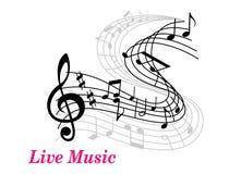Muzyka Na Żywo plakata szablon ilustracja wektor