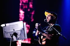 Muzyka Na Żywo przedstawienie przy Bime festiwalem Sufjan Stevens piosenkarz, kompozytor i instrumentalista (,) Zdjęcie Royalty Free