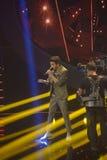 Muzyka Na Żywo TV przedstawienia studio, Młody Nastoletni śpiew Obrazy Royalty Free