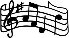 Muzyka personel Fotografia Royalty Free