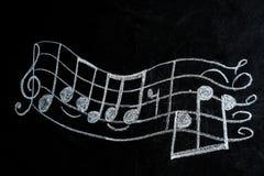 Muzyka personel z treble clef i notatkami pisać obrazy royalty free