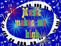 Muzyka robi ja wysokości Zdjęcie Royalty Free