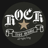 Muzyka rockowa druk Fotografia Royalty Free