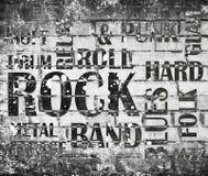 Muzyka rockowa plakat obraz stock