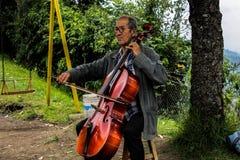 Muzyka stary człowiek Fotografia Royalty Free