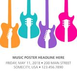 Muzyka układu Koncertowy Plakatowy szablon Obrazy Royalty Free